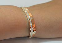 Серебряный браслет с золотом купить, фото 1