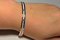 Серебряный браслет  с накладками золота, фото 1