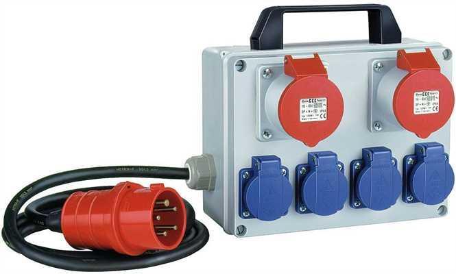 Мала енергетична станція 230/400В/16А, IP44