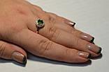 Кольцо серебряное со вставками золота, фото 5