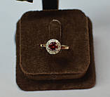 Кольцо серебряное со вставками золота, фото 7