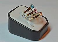 Кольцо серебряное с золотыми накладками, фото 1