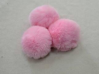 Помпон (бубон) меховой цвет розовый арт. 13013-1, цена за 1шт.
