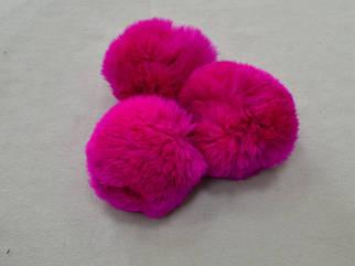 Помпон (бубон) меховой цвет фуксия арт. 13013-10, цена за 1шт.