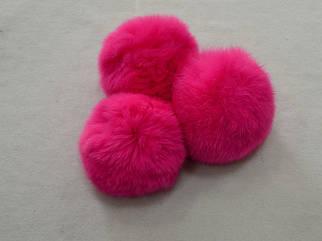 Помпон (бубон) меховой цвет малина арт. 13013-11, цена за 1шт.