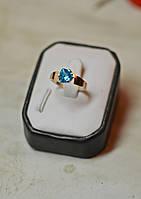 Кольцо серебряное с золотыми вставками, фото 1