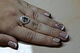 Кольцо серебряное с золотыми вставками, фото 7