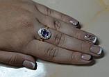 Кольцо серебряное с золотыми вставками, фото 8
