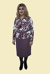 """Женское платье от производителя """"Имитация костюма"""" , р. 54-62. Модель № 061"""