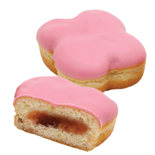 Пончик з полуничною начинкою