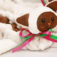 Сушки на лезвие коньков, мягкие Котята (бело-коричневые), фото 4