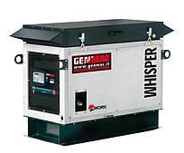 Однофазный газовый генератор GENMAC WHISPER-GAS RG10000KS NG/LPG (10 кВт) + Автозапуск + GSM мониторинг