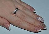 Кольцо серебряное с золотыми пластинками, фото 2