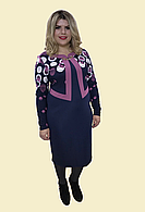 """Платье батал в больших размерах """"Сирень"""", р.54"""