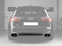 Диффузор заднего бампера Audi A6 в стиле S6 2012-2015