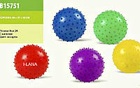 Мяч с шипами резиновый  цветной (8см.28гр)