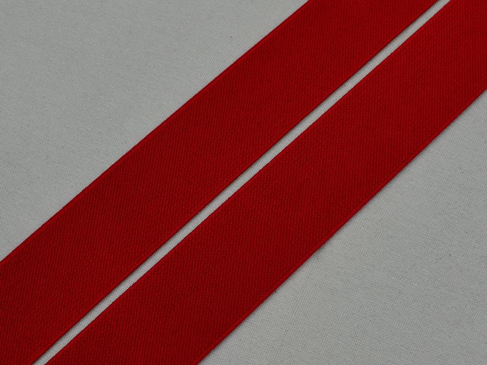 Резинка текстильная ширина 40мм цвет красный арт. 15098, цена за рулон 54.8 метра