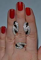 Набор серебряный с золотыми пластинами, фото 1