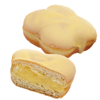 Пончик з банановою начинкою