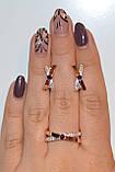 Серебряное кольцо с золотымим вставкамми, фото 2