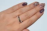 Серебряное кольцо с золотымим вставкамми, фото 7