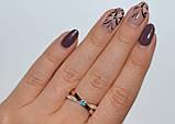 Серебряное кольцо с золотымим вставкамми, фото 8