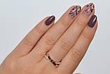 Серебряное кольцо с золотымим вставкамми, фото 10