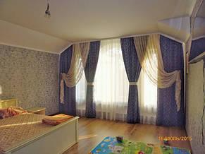 Шторы с подхватом и декоративная тюль в спальню. Лышня