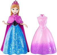 """Мини-принцесса Анна Дисней с дополнительным платьем из м/ф """"Ледяное сердце"""" / Disney Anna Frozen MagiClip"""