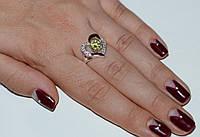 Серебряное кольцо с золотыми пластинками, фото 1