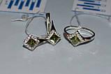 Серебряное колечко с золотыми вставками, фото 9