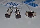Серьги серебряные с золотыми вставками, фото 5