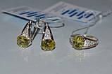 Серьги серебряные с золотыми вставками, фото 8