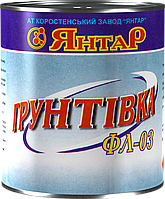 """Грунтовка ФЛ – 03К (черно - коричневая) ТМ """"Янтарь"""""""