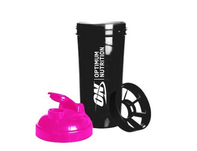 Shaker ON 700 ml black pink
