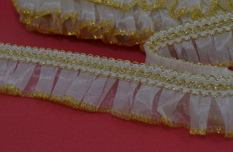 Тесьма декоративная арт. 20588/gold, цена за упаковку 25 метров.