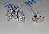 Серьги серебряные с золотом, фото 2
