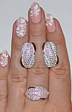Серьги серебряные с золотом, фото 3