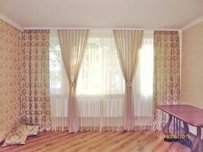 Декоративные шторы и тюль с подхватами в кабинет. Лышня