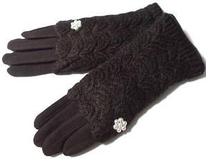 Перчатки и митенки модные 2 в 1 шоколад размер 8