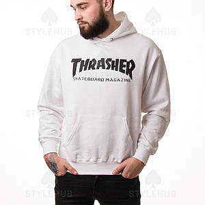 Thrasher magazine ХУДИ / Белая / бирка оригинал