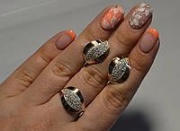 Комплект серебряный с золотыми пластинами