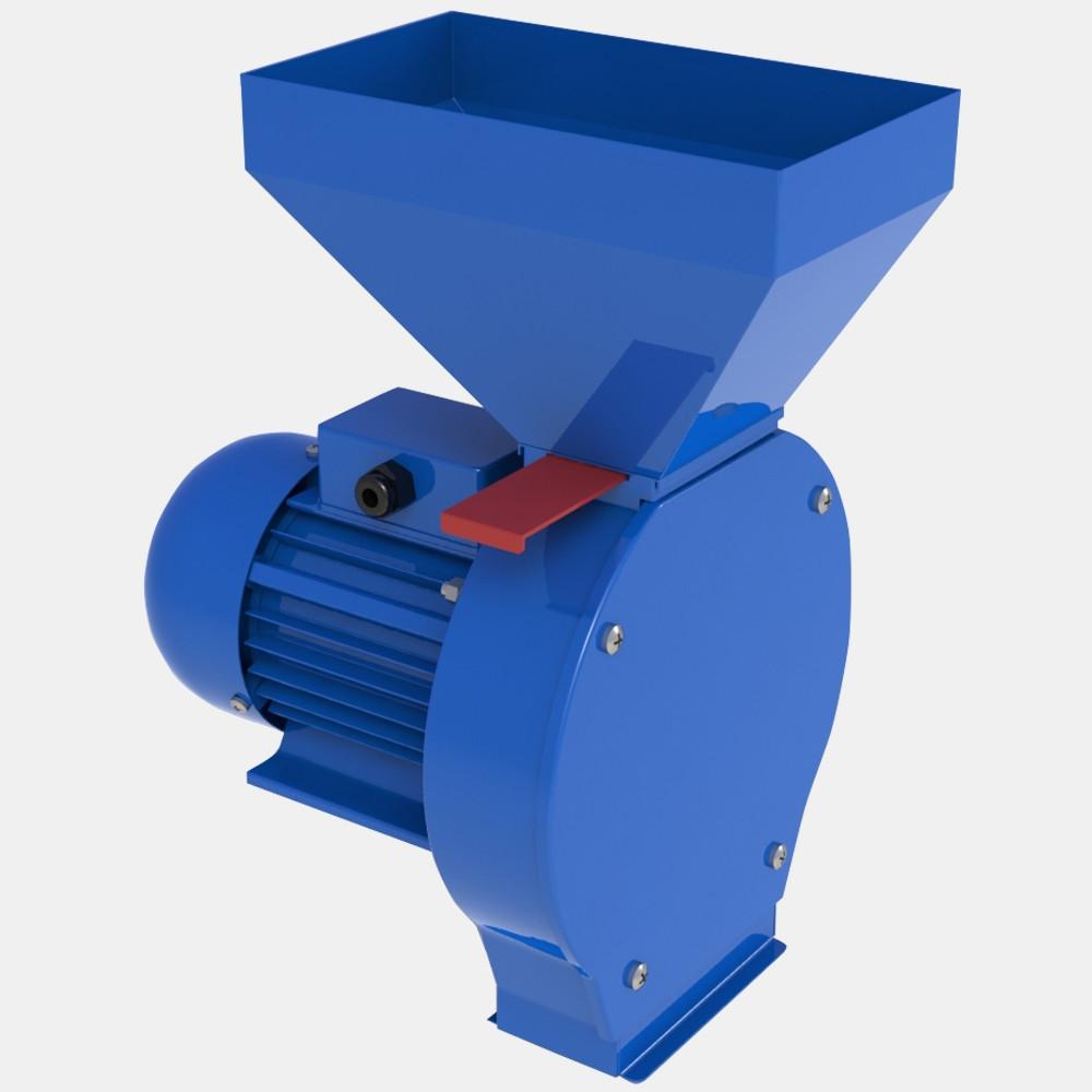 Зернодробилка ДТЗ КР-06 (1,4 кВт 125кг/час, зерно + початки кукурузы)