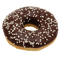 Чорний пончик «DONUT» з посипкою з білого шоколаду (44 шт)
