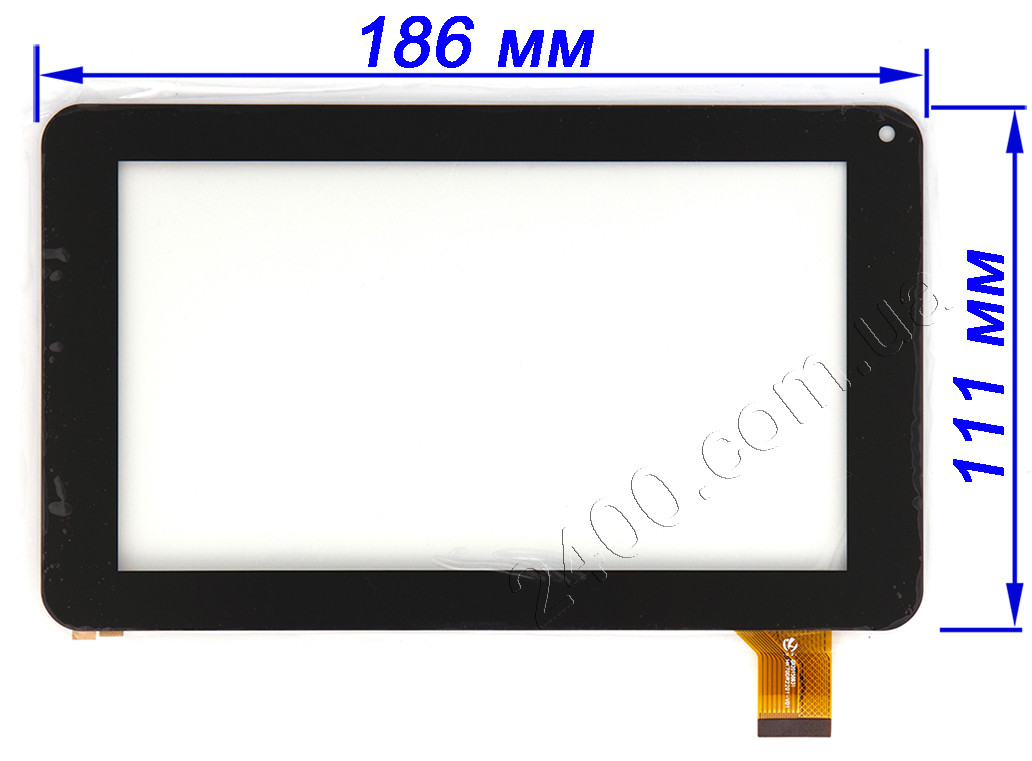 Сенсор (тачскрин) для планшета Impression ImPAD 3313 черный 186*111 мм