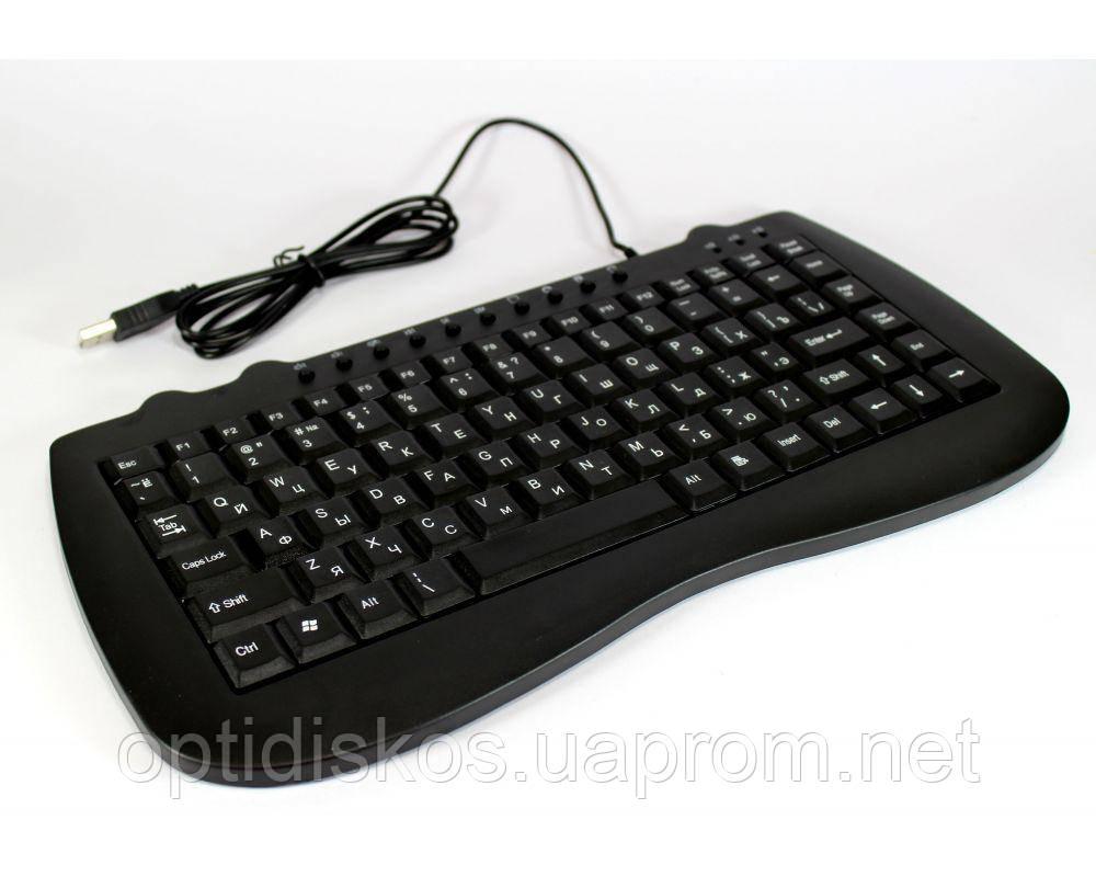 Клавиатура мультимедийная UKC KB-980, USB, черная, мини