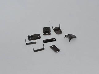 Крючок брючный арт. 25016 цвет блек никель, цена за упаковку 100шт.