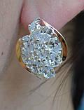 Серебряные серьги с золотыми накладками, фото 3