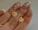 Серьги-вкрутки серебряные с золотыми пластинами, фото 6
