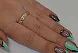 Серебряное кольцо с золотом, фото 4